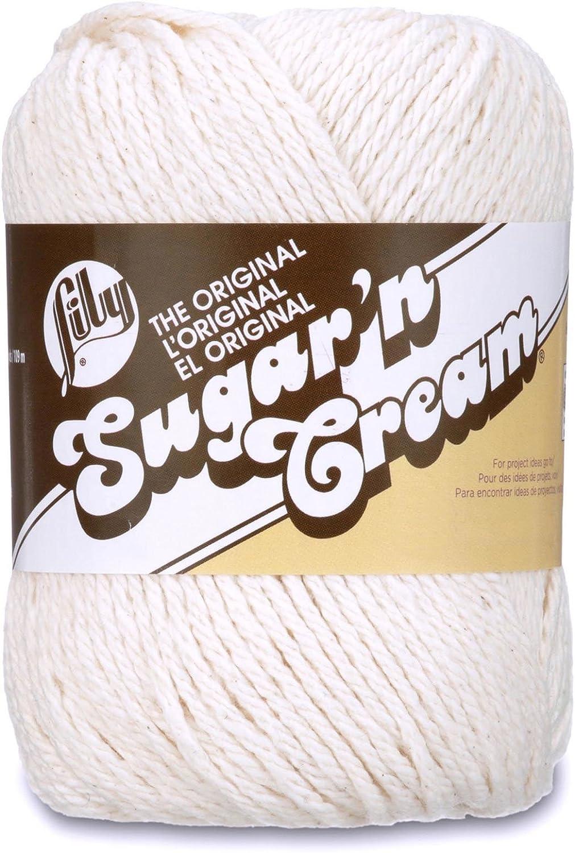 0026 Light Blue Lily Sugar/'N Cream Aran Knitting Wool Yarn 71g