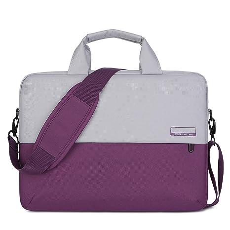 b374a90be149cd BRINCH 15.6 Inch Soft Nylon Laptop Bag Water Resistant Notebook Shoulder  Messenger Bag Lightweight Business Briefcase