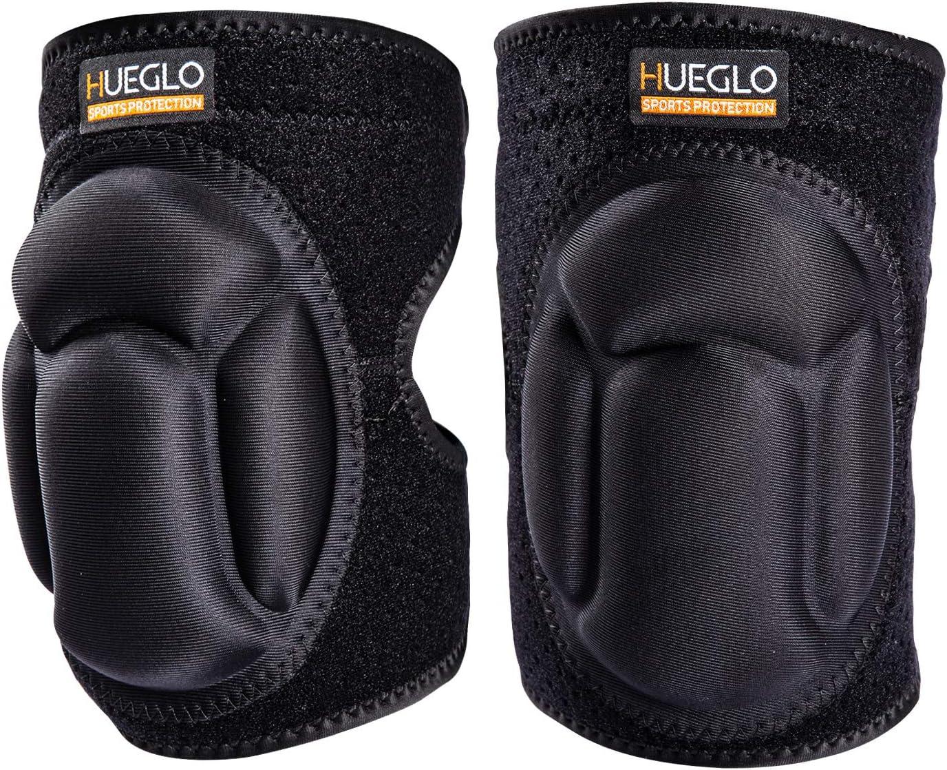 HUEGLO Adult Protective Knee Pads for Work,Knee Pads Gardening for Men & Women,Thick Sponge Anti-Slip, Collision Avoidance Dance Knee Sleeve