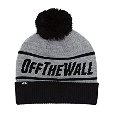ce36ecd180 Vans Heather Grey-Black Off The Wall Pom Beanie  Amazon.co.uk  Clothing