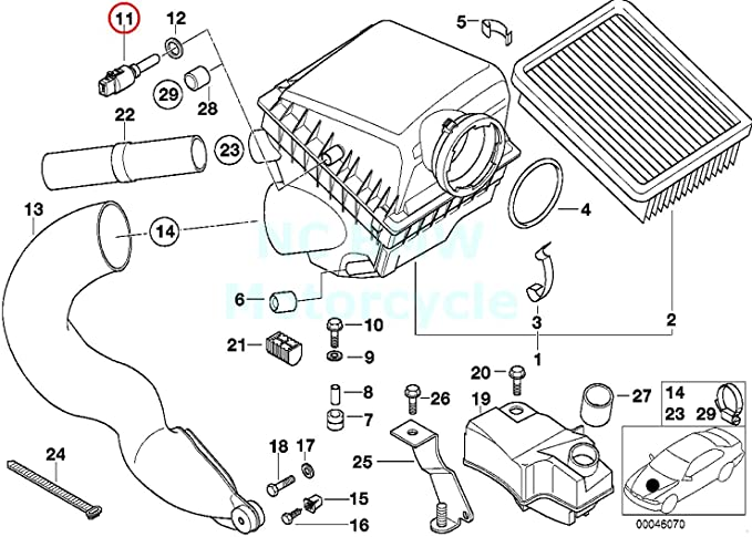 Amazon.com: BMW Genuine Air Temperature Sensor - Engine Intake Air for  850Ci 318i 318is 318ti 323i 328i M3 3.2 740i 740iL 740iLP 750iL 750iLP 525i  528i 530i 540i 540iP 320i 323Ci 323iAmazon.com