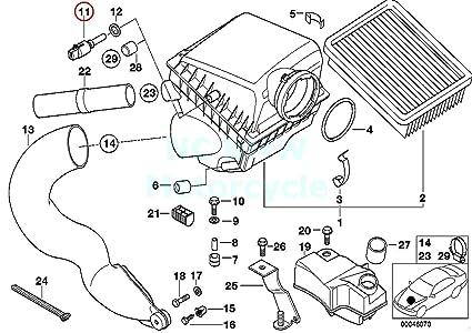 bmw genuine air temperature sensor - engine intake air for 850ci 318i 318is  318ti 323i 328i