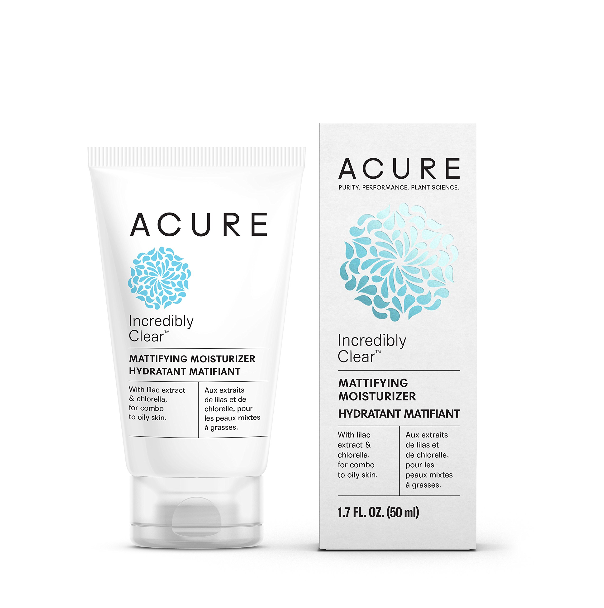 Acure Incredibly Clear Mattifying Moisturizer (Packaging May Vary), 1.7 Fluid Ounce