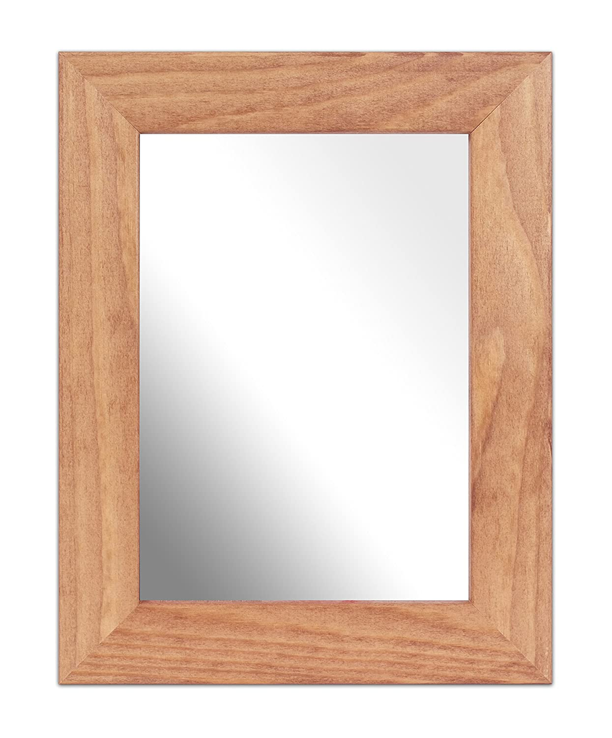 Inov8 British Made A4 Traditional Real Wood Mirror, Kayla Light Oak MFWS-KALO-A4