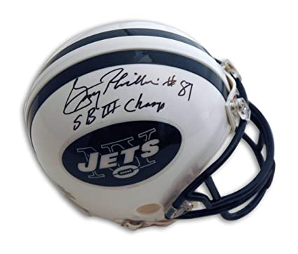 Gerry Philbin Autographed Mini Helmet - with quot SB III Champs quot   Inscription - Autographed NFL 1eda6f637
