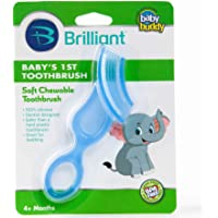 Baby Buddy Blue First Silicone Toothbrush