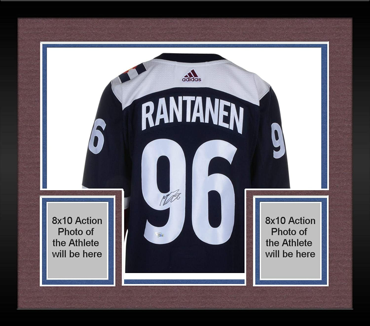 95f0f05b8 Framed Mikko Rantanen Colorado Avalanche Autographed Blue Alternate Adidas Authentic  Jersey - Fanatics Authentic Certified at Amazon s Sports Collectibles ...