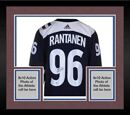new style 77590 5756e Framed Mikko Rantanen Colorado Avalanche Autographed Blue ...