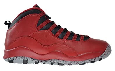 3527afe4eec4 Jordan Air 10 Retro 30th Bulls Over Broadway Men s Shoes Gym Red Black-Wolf