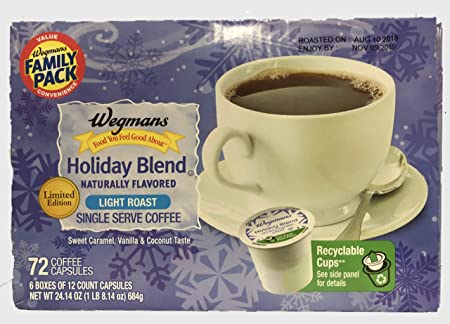 wegman s holiday blend limited edition single serve k cups case of