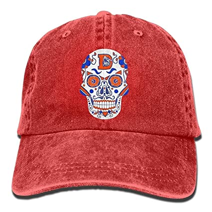 146d1625d78 Amazon.com   JDhome Denver Broncos Sugar Skull.png Adult Cowboy Hat ...