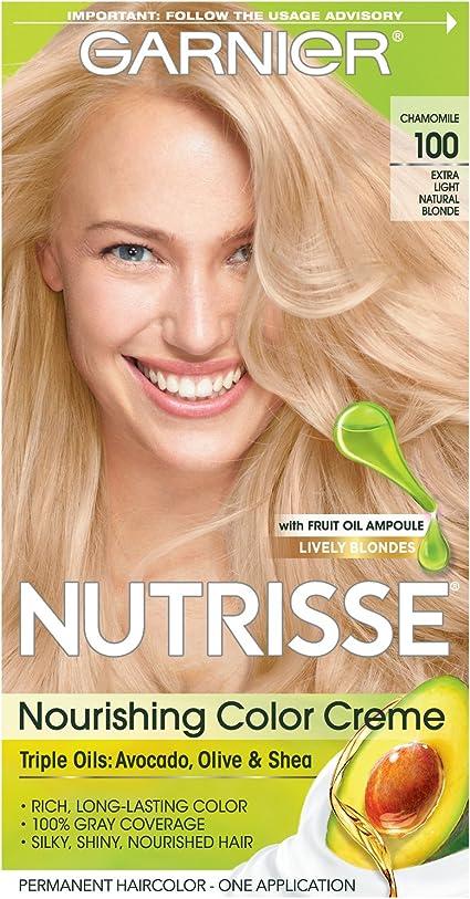 Garnier Nutrisse 100 Rubio - coloración del cabello (Rubio, Extra-Light Natural Blonde, Aqua/Water, Cetearyl Alcohol, Propylene Glycol, Deceth-3, ...