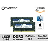 Timetec Hynix IC Apple 16GB Kit (2x8GB) DDR3 PC3-8500 1066MHz memory upgrade for MacBook 13-inch Mid 2010, MacBook Pro 13-inch Mid 2010, iMac 27-inch Late 2009, Mac Mini Mid 2010/Server
