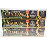 Organic Bamboo Charcoal Toothpaste 100% Natural Teeth Whitening 3 Pack Oral Care - 6.5 oz