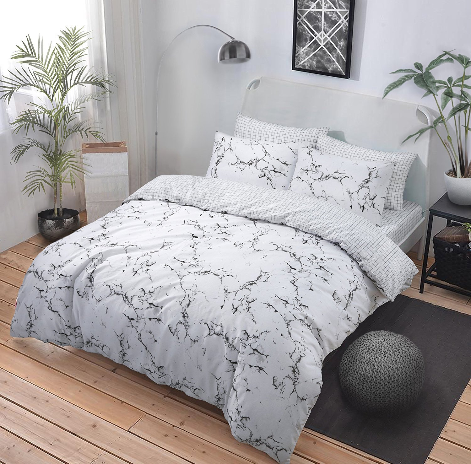 pieridae marble effect grey duvet quilt bedding cover and pillowcase bedding set add a splash of marble effect to your bedroom with our marble grey duvet