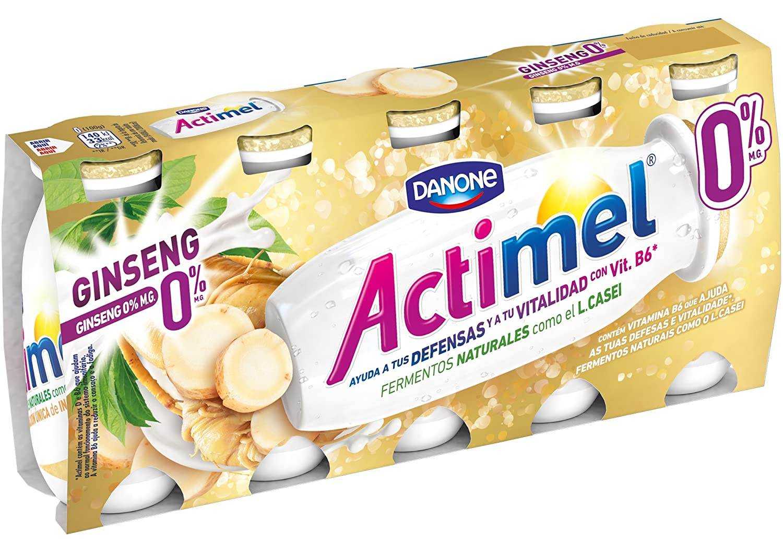 Actimel Yogur Ginseng 0% - Paquete de 5 x 100 gr - Total: 500 gr: Amazon.es: Alimentación y bebidas