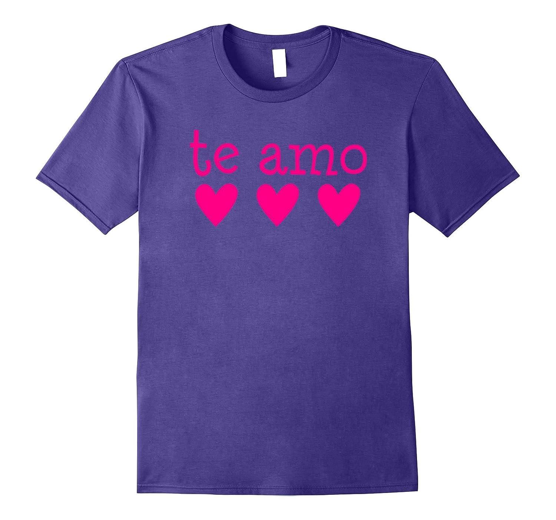 Te Amo I Love You in Spanish Pink Hearts T-Shirt Tee Shirt-Vaci