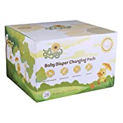 LivJoy Baby Diaper Disposable Changing Pads - Portable Infant Toddler 100% Waterproof Mats, 26 x 17.5 Inches Large Sanitary Covers for Changing Tables at Home Travel, 28 Pack Germ Free Premium Liners