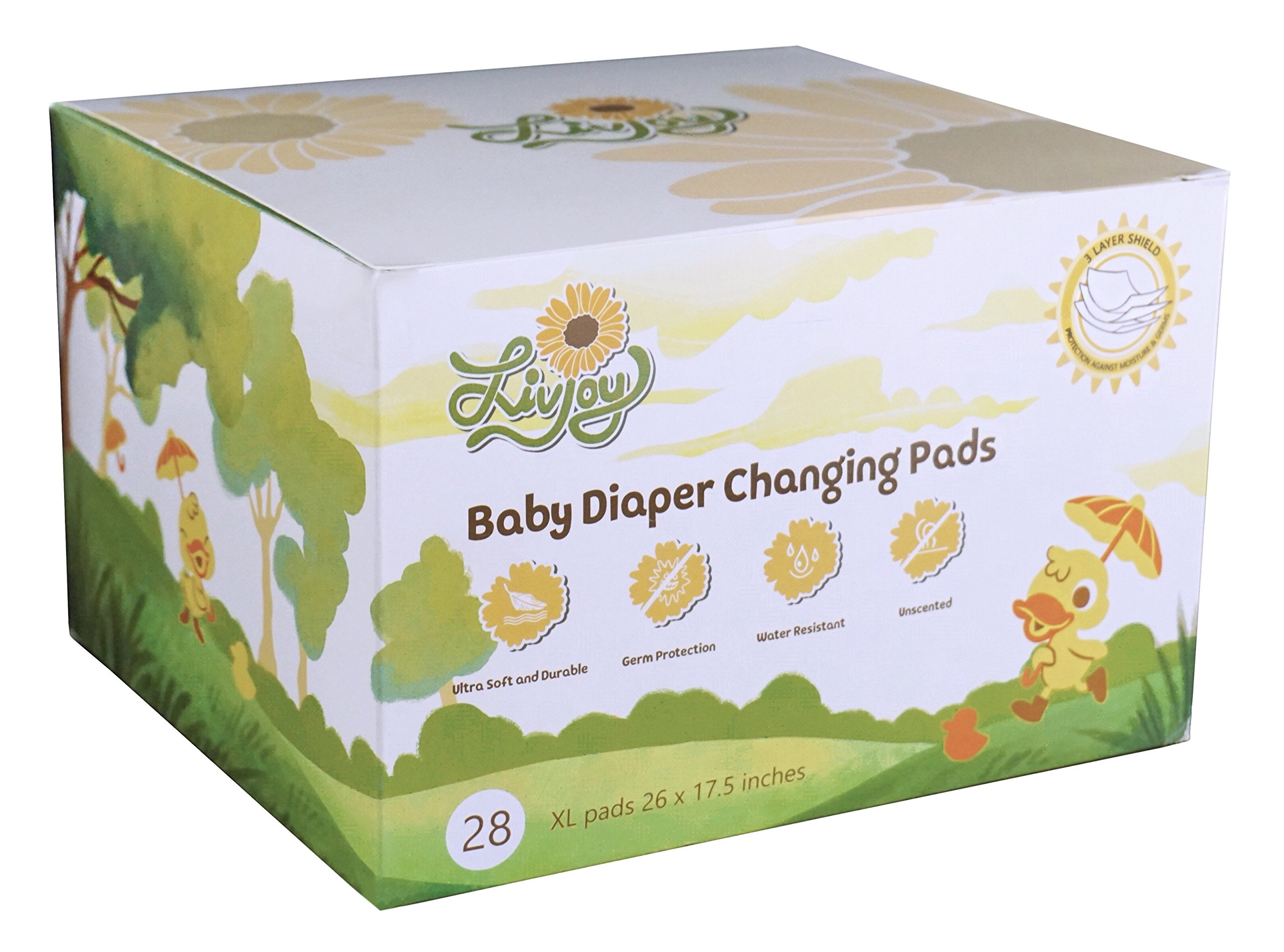 LivJoy Baby Diaper Disposable Changing Pads   Portable Infant Toddler 100%  Waterproof Mats, ...