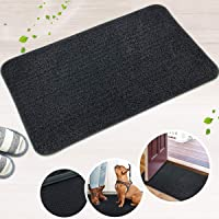 LINLA Non-Slip Doormat Cotton Door Mat, Absorbent Fast Dry, Mud Dirt Trapper Shoes Scraper Mats for Entrance, Floor…
