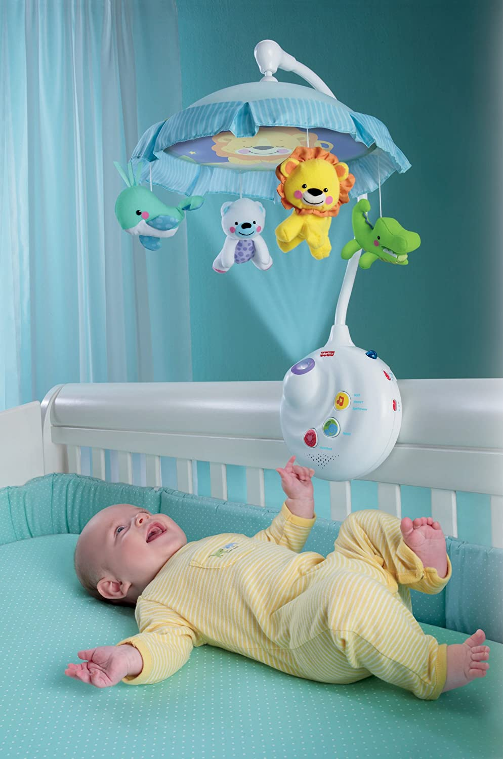 Mobile for baby crib - Amazon Com Fisher Price Precious Planet 2 In 1 Projection Mobile Crib Toys Baby