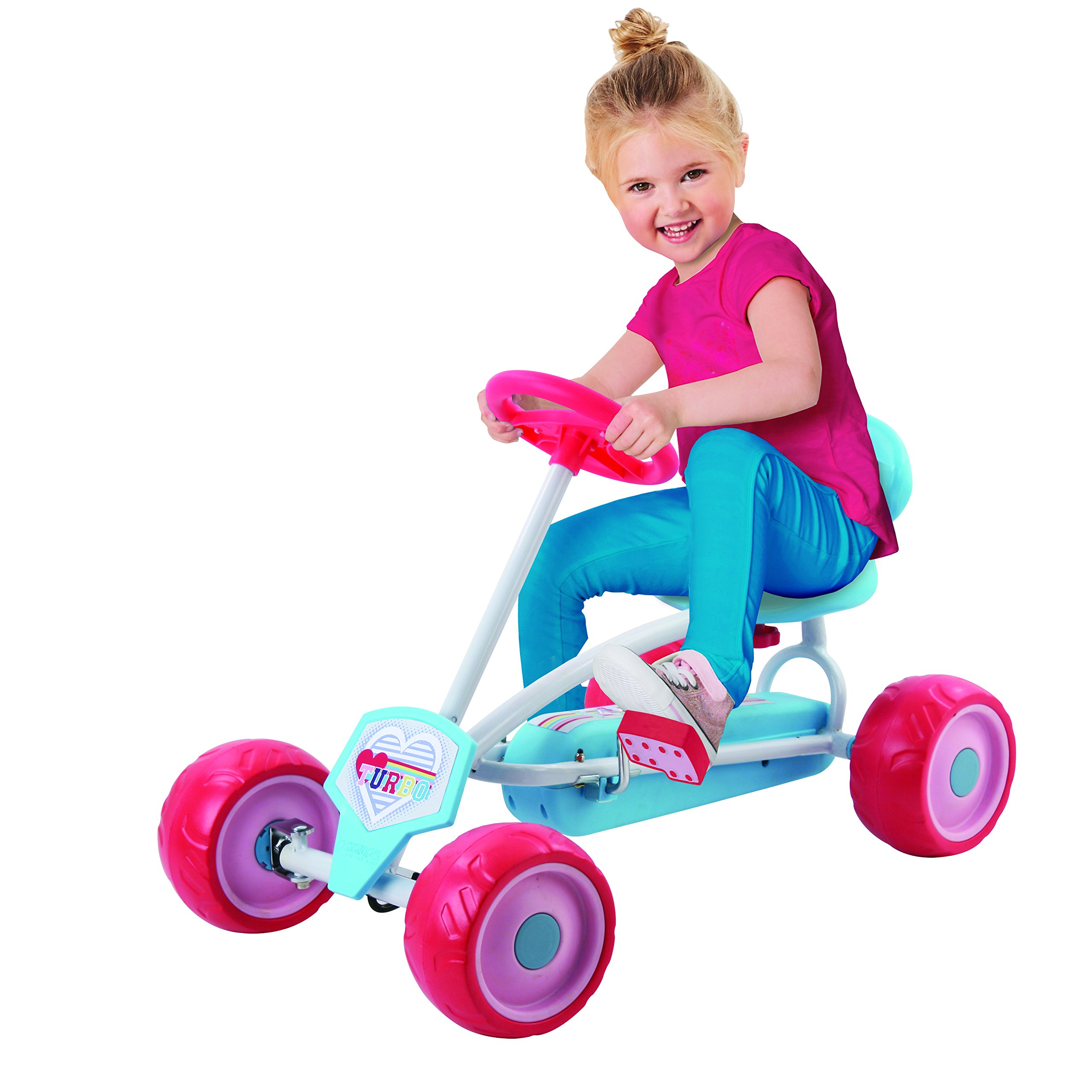 Hauck Lil'Turbo Pedal Go Kart, Blue/Pink by Hauck