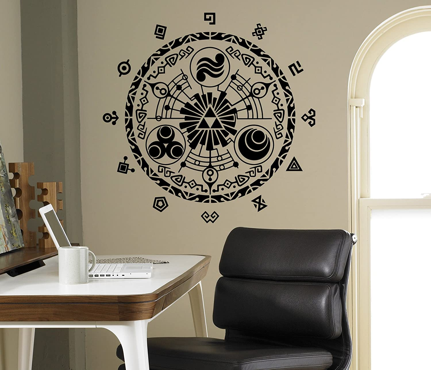 Legend of zelda wall decal gate of time vinyl sticker princess legend of zelda wall decal gate of time vinyl sticker princess zelda home interior living room decor door stickers housewares design anime manga kids amipublicfo Gallery