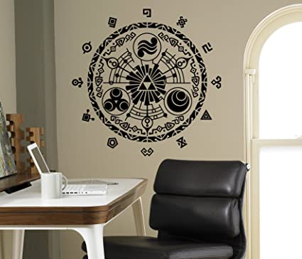 Legend of zelda wall decal gate of time vinyl sticker princess zelda home interior living room