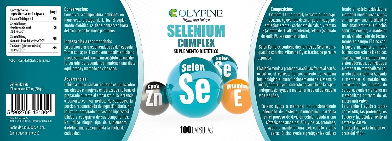 Selenium Complex 100 Cápsulas Selen+Zinc+Vitamina E: Amazon ...