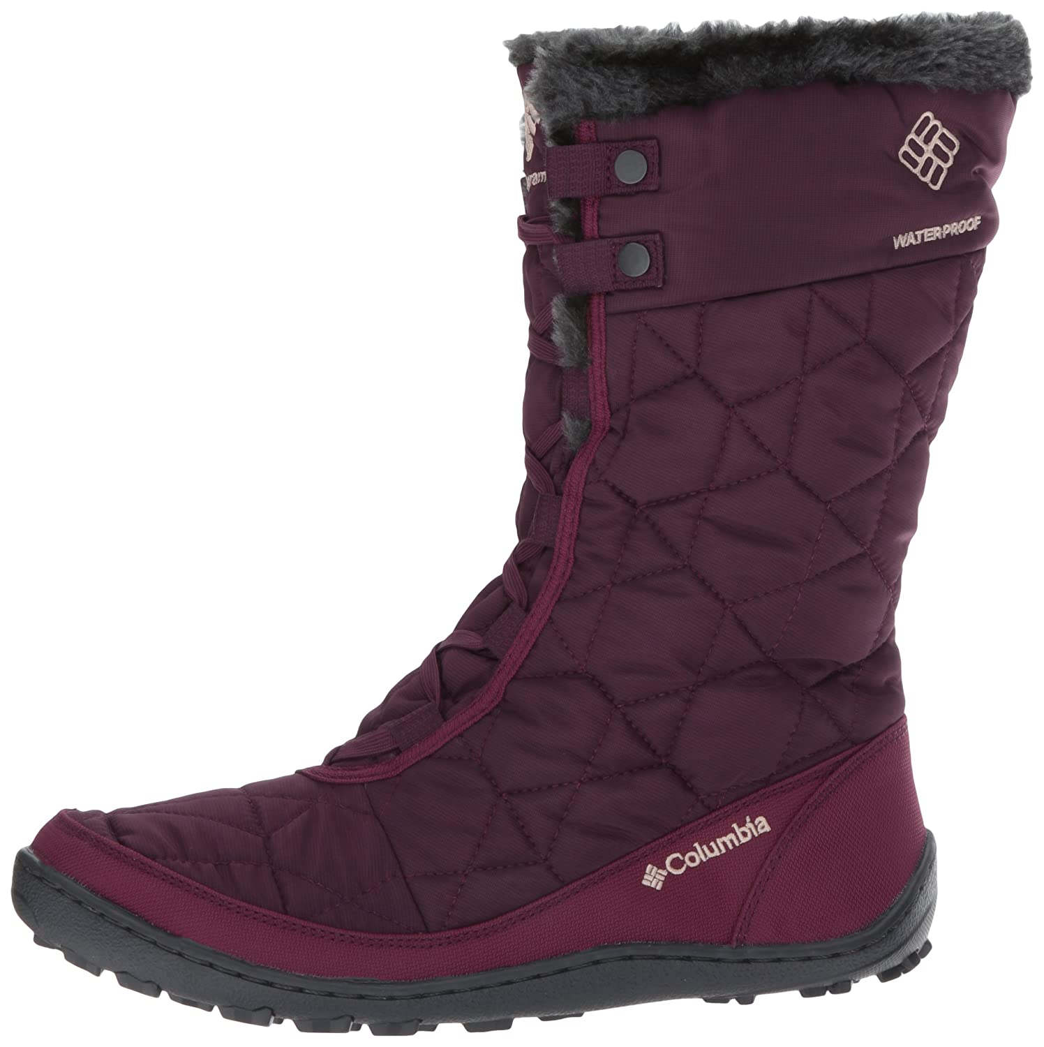 Columbia Women's Minx Mid II Omni-Heat Winter Boot B01MY03O7S 7.5 B(M) US|Purple Dahlia, Ancient Fossil