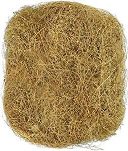 Coconut Fiber Bedding --- Sterilized Coco Bird Coir - 100% Natural Small Pet's Nest - Mess-free Cleaning, Odor-free - Prevents mold, bacteria formation - For Playing, Chewing, Decorating Vanda basket