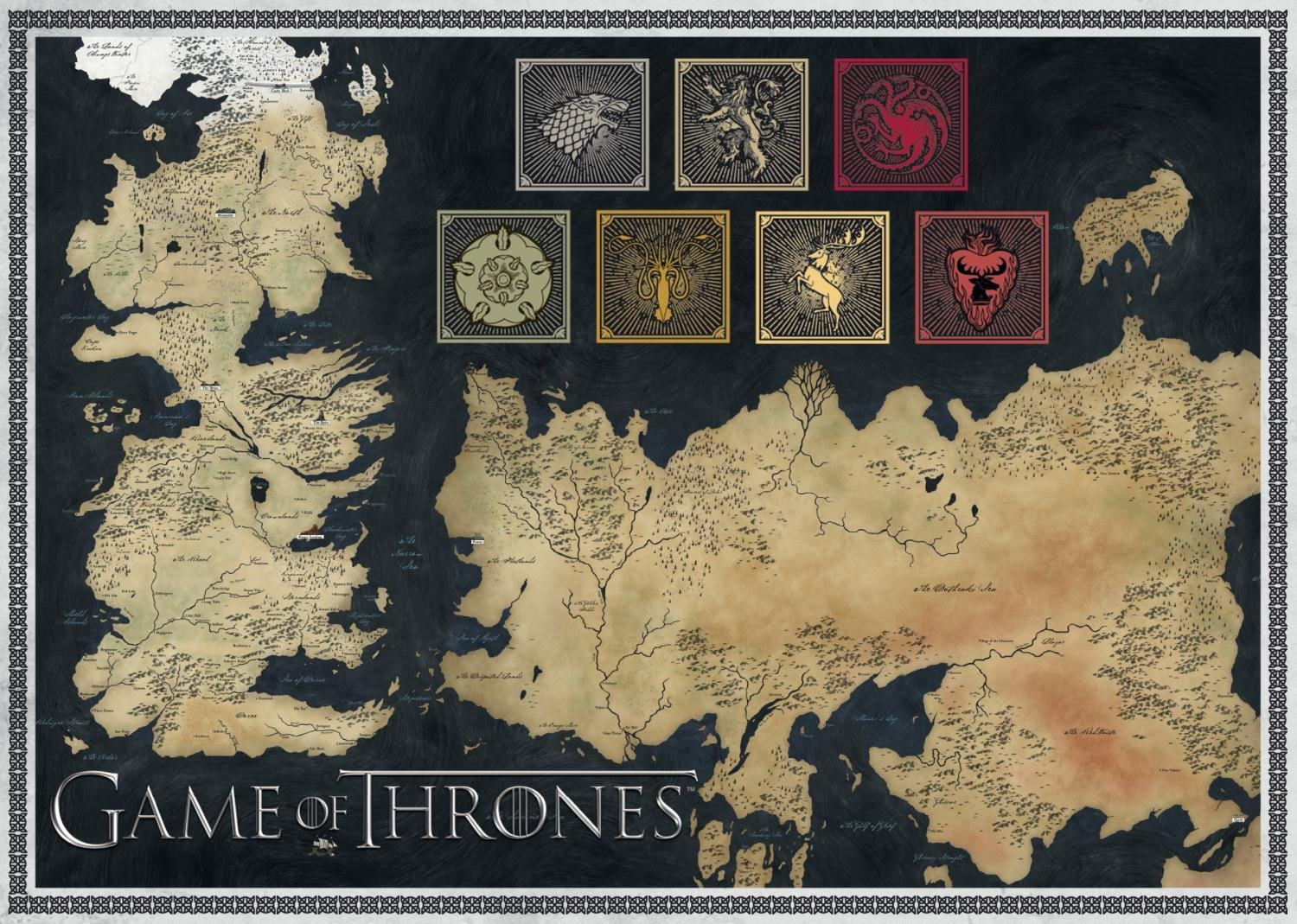 Amazon Com Game Of Thrones Map Of The Known World Jigsaw Puzzle