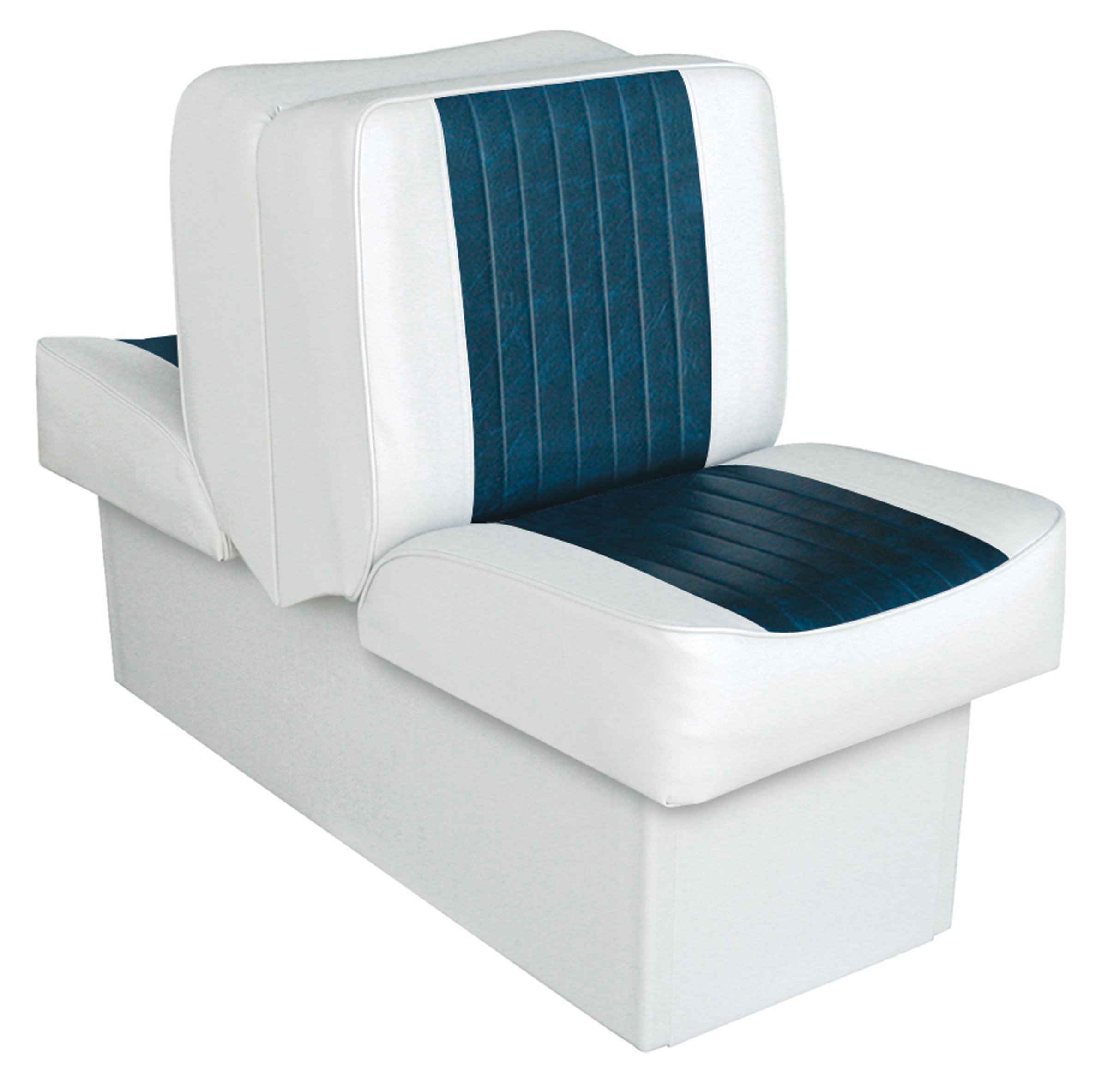Wise 8WD707P-1-924 Deluxe Lounge Seat (White/Navy)