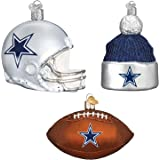 football ornaments christmas nfl hanging decoration pack 3ct