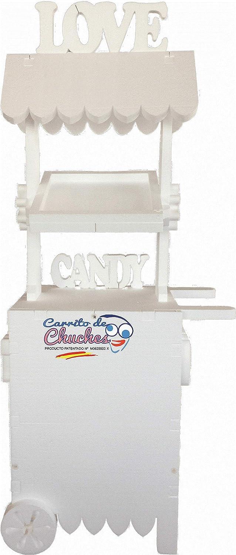Candy Cart Bodas Blanco. para Decorar. Medidas 170cms(Alto) x70 cms(Ancho) x 47cms (Fondo): Amazon.es: Juguetes y juegos