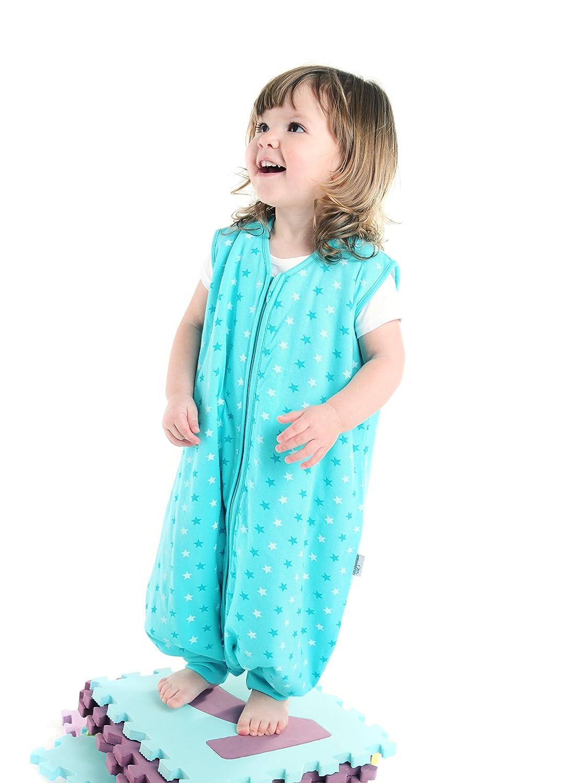 Slumbersac Summer Sleeping Bag With Feet 0.5 Tog Simply Teal Stars 24-36 months