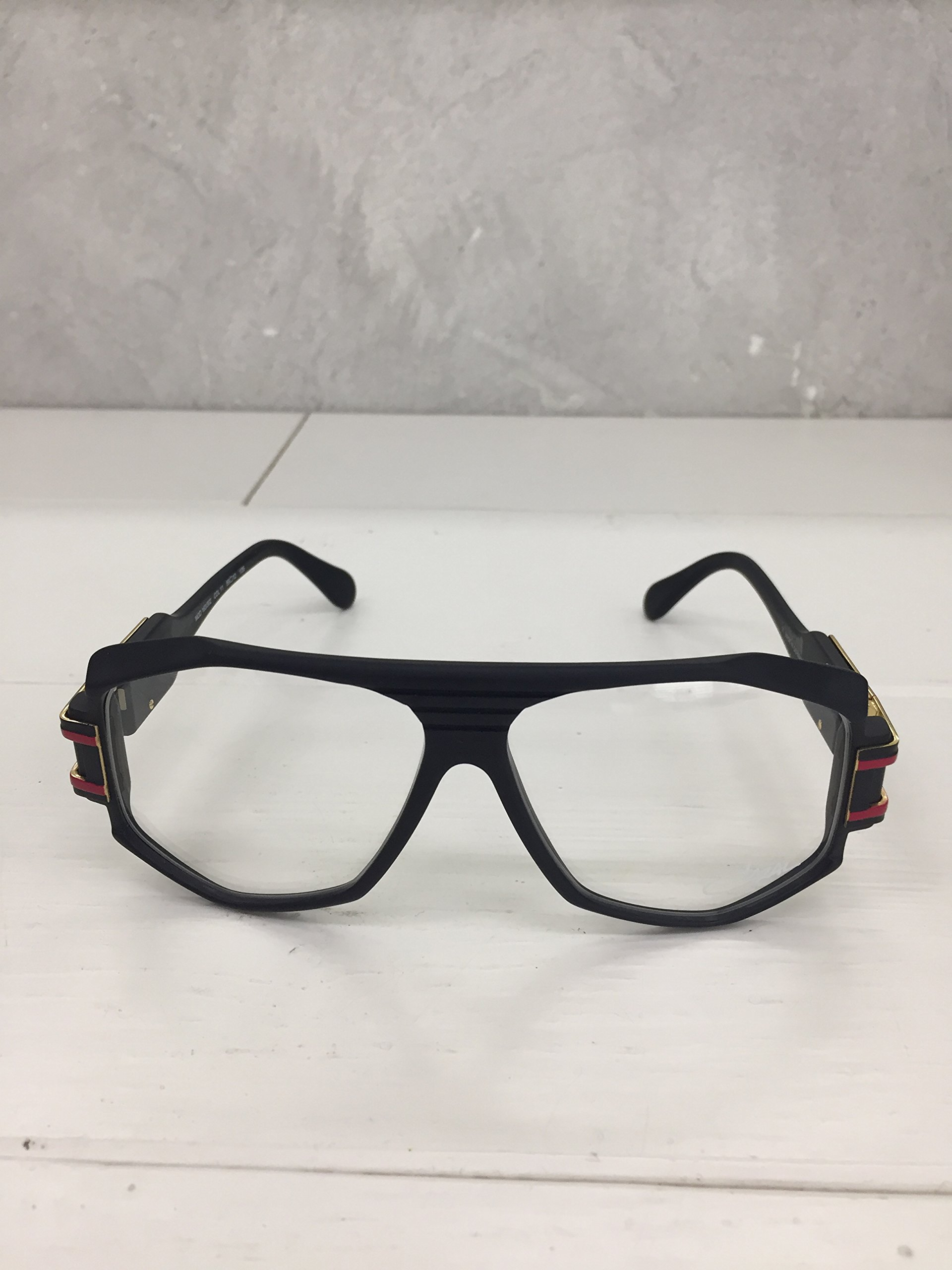 Cazal Eyewear Legends 163 11 matt Black red 100% Authentic New by Cazal