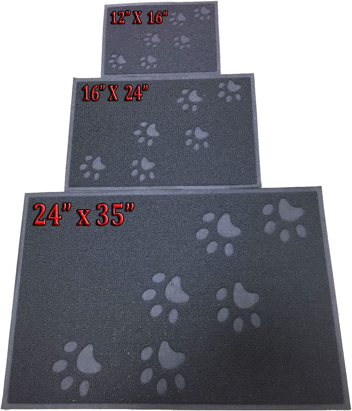 Small//Large//X-Large Size Phthalate /& BPA Free ANDALUS Cat Litter Mat Traps Messes Scatter Control Easy to Clean