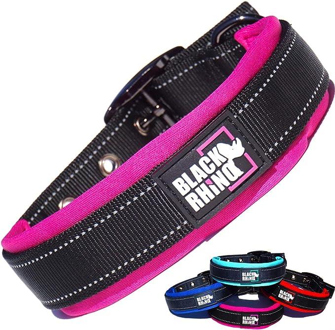 Black Rhino - The Comfort Collar Ultra Soft Neoprene Padded Dog Collar