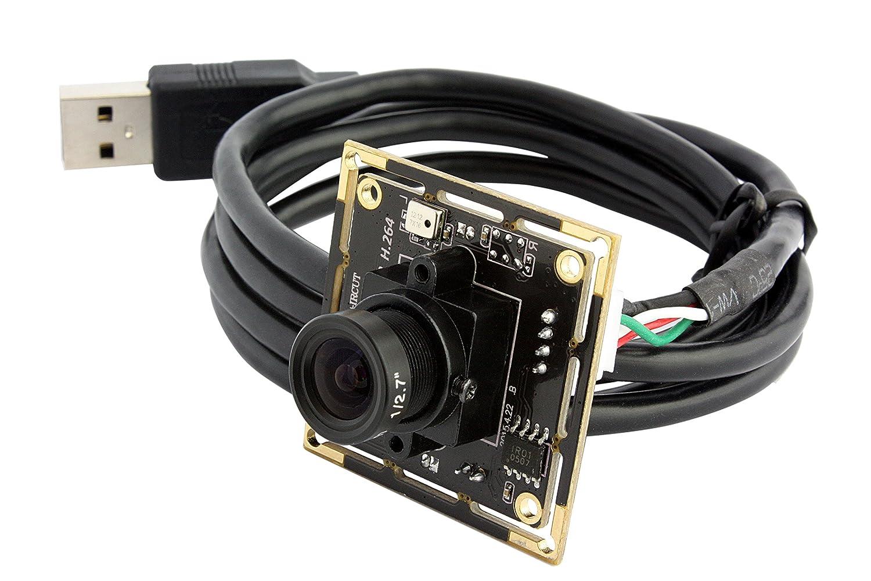 ELP ウェブカメラ Linux/Windows H.264 1080P Full HD USBビデオカメラモジュール (3.6mm レンズ) B01J58KEB2  3.6mm レンズ