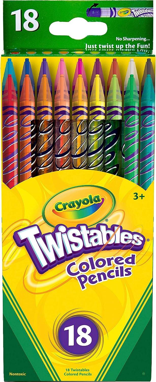 Grafix 10 Twistables Coloured Crayons Pencils.