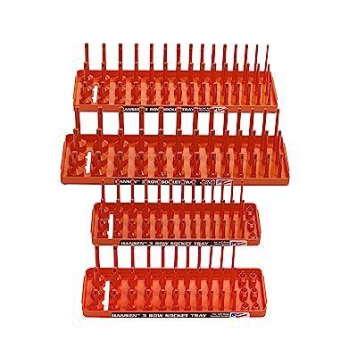Hansen Global 92005 SAE & Metric, 3-Row Socket Tray Set - 4-Pieces, Orange: Home Improvement [5Bkhe1505855]