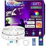 Cozylady WiFi LED Strip 25m, Music LED Lights Room Compatible with Alexa and Google Home, RGB 5050 LED Strips Light Control w