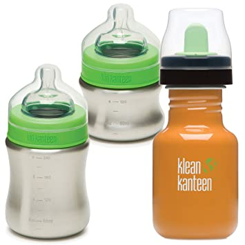 Amazon.com: Kid Kanteen Acero Inoxidable bebé para botellas ...