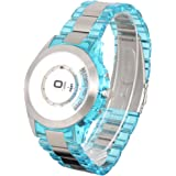 The One - AN08G02 - Turning Disc - Montre Homme - Quartz Analogique - Cadran Argent - Bracelet Acier/Plastique Bleu