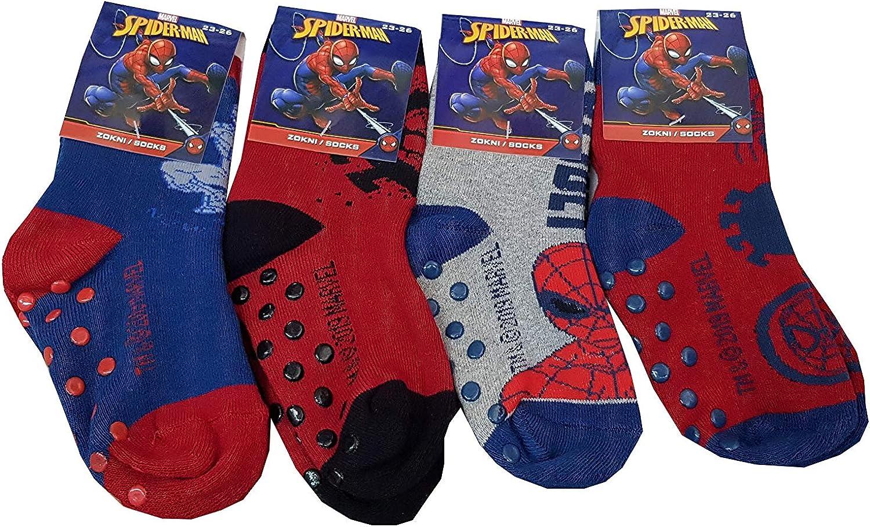 art. SP5019 UOMO RAGNO Calzini antiscivolo Spiderman una confezione da due paia assortiti per bambino