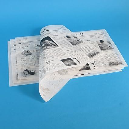 1000 Blatt Einschlagpapier Hamburgerpapier Sandwichpapier Frischhaltepapier Pergamentersatz fettdicht Zeitung / mit Zeitungsd