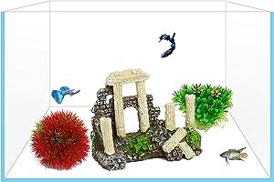 Yizhi Miaow Aquarium Decorations Medium Fish Tank Decor Tree Log/Driftwood, Decorative Resin Ornament for Medium and Large Tank