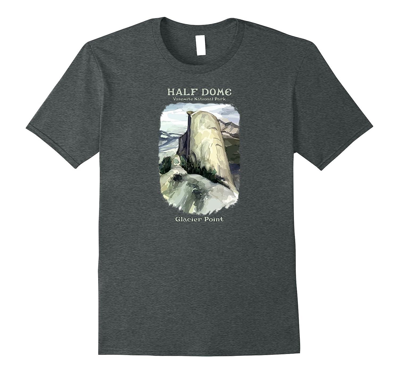Half Dome Glacier Point Yosemite National Park Retro t-shirt-TH
