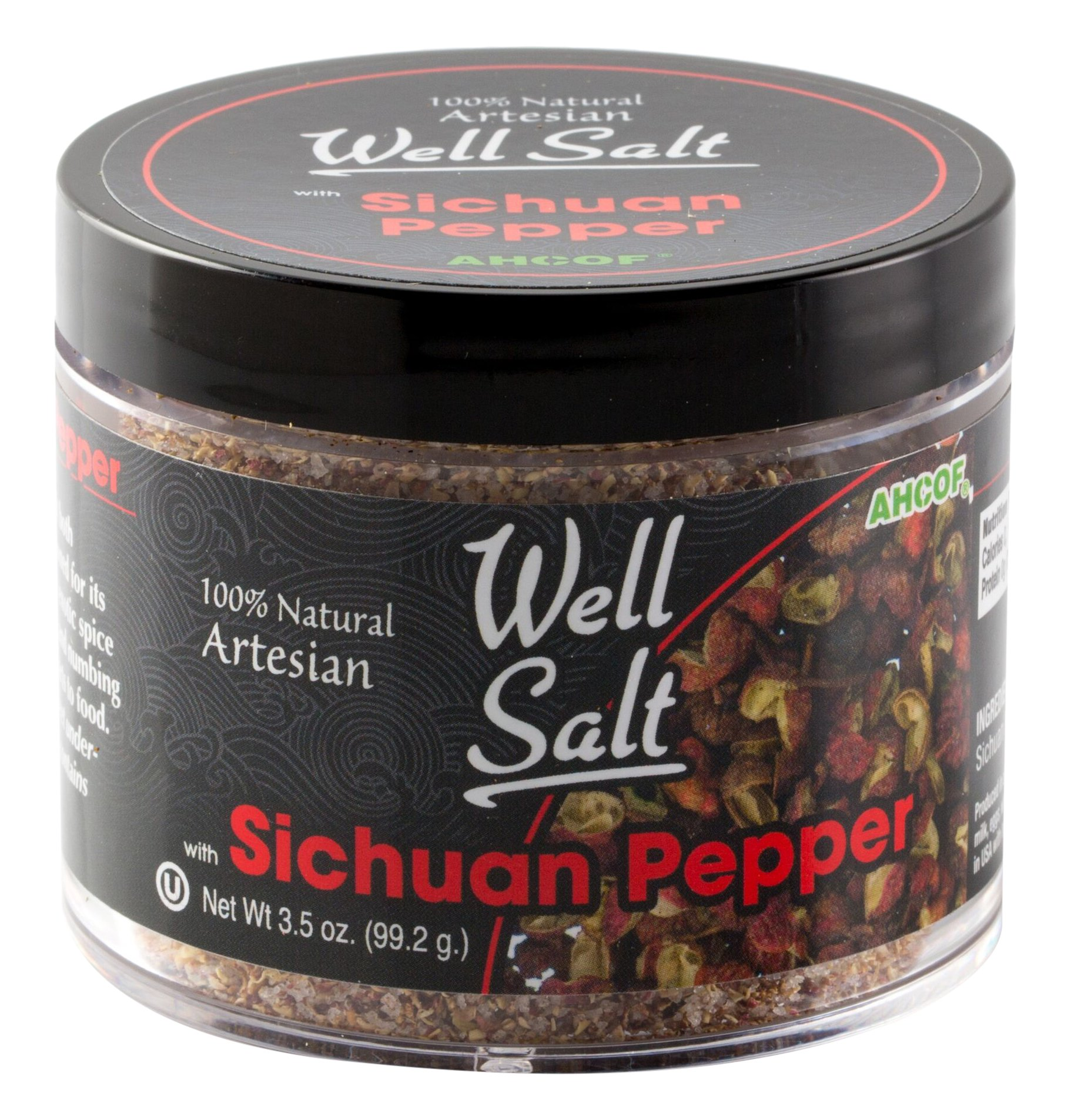 AHCO Foods 100% Natural Artesian Well Salt, Sichuan Pepper, 3.5 Ounce